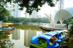 Shenzhen, China: lagos e paisagem do iate Foto de Stock Royalty Free