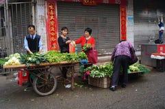 Shenzhen, China: landbouwersmarkt Royalty-vrije Stock Fotografie