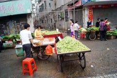 Shenzhen, China: landbouwersmarkt Royalty-vrije Stock Afbeeldingen