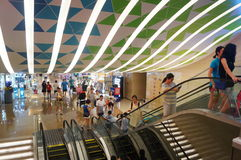 Shenzhen, China: large comprehensive shopping malls Royalty Free Stock Photography