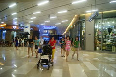 Shenzhen, China: large shopping mall interior landscape Stock Photos