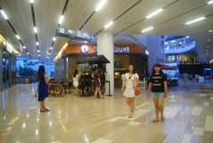 Shenzhen, China: large shopping mall interior landscape Stock Images