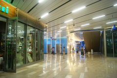 Shenzhen, China: large shopping mall interior landscape Royalty Free Stock Photos
