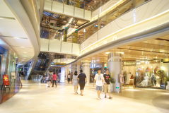 Shenzhen, China: large shopping mall interior landscape Stock Photo