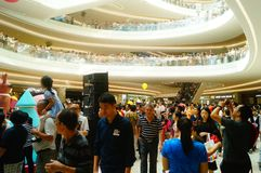 Shenzhen, China: large shopping malls opened, and many people attended the opening ceremony. Yi fang cheng large shopping malls opened, many people came to the Stock Photography
