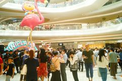 Shenzhen, China: large shopping malls opened, and many people attended the opening ceremony Royalty Free Stock Photography