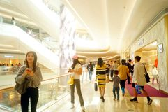 Shenzhen, China: large shopping malls opened, and many people attended the opening ceremony Royalty Free Stock Images