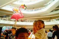 Shenzhen, China: large shopping malls opened, and many people attended the opening ceremony Royalty Free Stock Photos