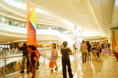 Shenzhen, China: large shopping malls opened, and many people attended the opening ceremony. Yi fang cheng large shopping malls opened, many people came to the Stock Photo