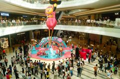 Shenzhen, China: large shopping malls opened, and many people attended the opening ceremony. Yi fang cheng large shopping malls opened, many people came to the Stock Images