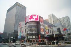 Shenzhen, China: large shopping plaza Royalty Free Stock Photography