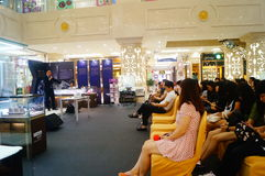 Shenzhen, China: a lecture on the road of diamond trade Stock Photos