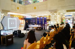 Shenzhen, China: a lecture on the road of diamond trade Royalty Free Stock Photo