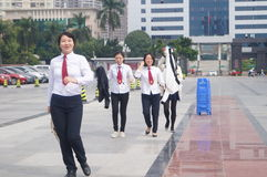 Shenzhen, China: legal publicity and education activities. Shenzhen Xixiang public square, legal advocacy and education activities stock photography