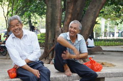 Shenzhen, China: leisure in the park for the elderly Stock Photography