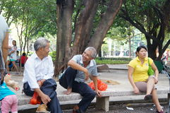 Shenzhen, China: leisure in the park for the elderly Stock Photos