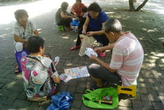 Shenzhen, China: Leisure Park residents Stock Photo