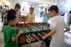 Shenzhen, China: Leisure Sports Soccer Stock Photo