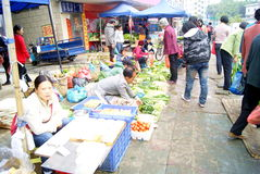 Shenzhen china: lequn vegetable market Royalty Free Stock Photography