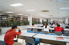 Shenzhen, China: library interior landscape Stock Images
