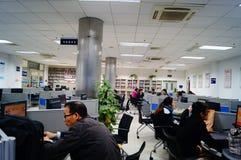 Shenzhen, China: Library of Internet cafes stock image