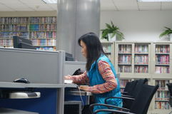 Shenzhen, China: Library of Internet cafes Royalty Free Stock Photo