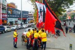 Shenzhen, China: Lion Dance Team Stock Photo