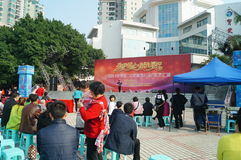 Shenzhen, China: literary singing and dancing show Royalty Free Stock Photos
