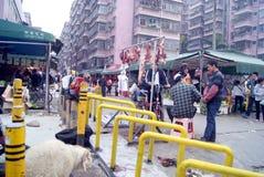 Shenzhen, china: live slaughter live sheep Stock Photos