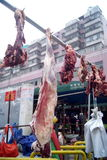 Shenzhen, china: live slaughter live sheep royalty free stock photos