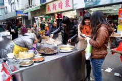 Shenzhen china: local snacks Royalty Free Stock Image