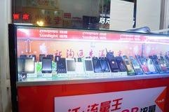 Shenzhen, China: loja do telefone celular Fotos de Stock