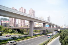 Shenzhen china: longgang avenue viaduct Royalty Free Stock Photos