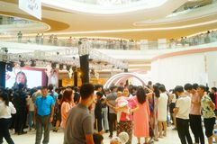 Shenzhen, China: male and female fans are waiting to watch Hongkong actress Myolie Wu D. Male and female fans wait to watch Hong Kong star hu xinger arrive at Royalty Free Stock Photos