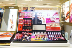 Shenzhen, China: mall cosmetics counters Royalty Free Stock Photos