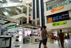 Shenzhen, china: mall interior landscape Royalty Free Stock Images