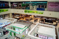 Shenzhen, china: mall interior landscape Royalty Free Stock Photography