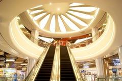 Shenzhen china: malls elevator landscape Stock Photography