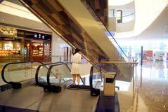 Shenzhen china: malls elevator landscape Stock Photos