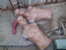 Shenzhen, China: mannequins abandoned Stock Photo