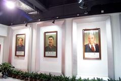 Shenzhen china: mao zedong photo exhibition Stock Images