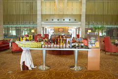 Shenzhen. CHINA - MARCH 01, 2016: inside Crowne Plaza in Longgang District. Crowne Plaza is a chain of full service, upscale hotels Stock Photo