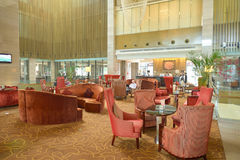 Shenzhen. CHINA - MARCH 01, 2016: inside Crowne Plaza in Longgang District. Crowne Plaza is a chain of full service, upscale hotels Royalty Free Stock Photography