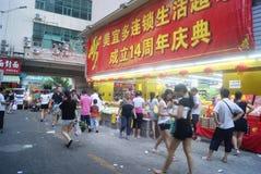 Shenzhen, China: Market Landscape Royalty Free Stock Image