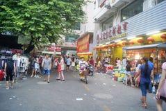 Shenzhen, China: Market Landscape Royalty Free Stock Photos