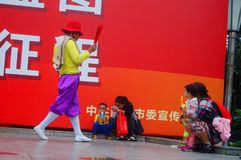 Shenzhen, China: mass singing, entertainment and leisure activities Royalty Free Stock Photos
