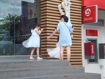 Shenzhen, China: McDonald`s restaurants, children and women are buying food. Royalty Free Stock Photography