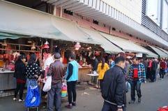 Shenzhen, China: Meat Market Royalty Free Stock Photo