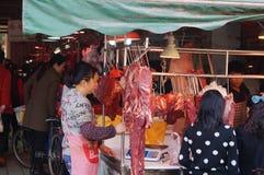 Shenzhen, China: Meat Market Royalty Free Stock Photography