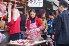 Shenzhen, China: Meat Market Royalty Free Stock Photos